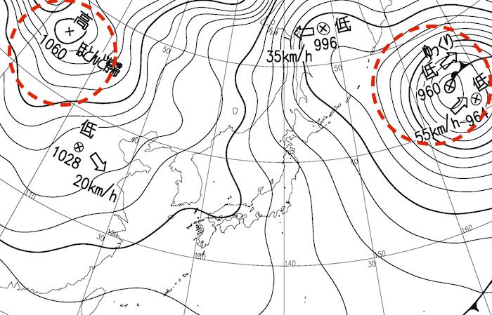 は 天気 され 図 等圧線 予想 最も 荒天 が る で