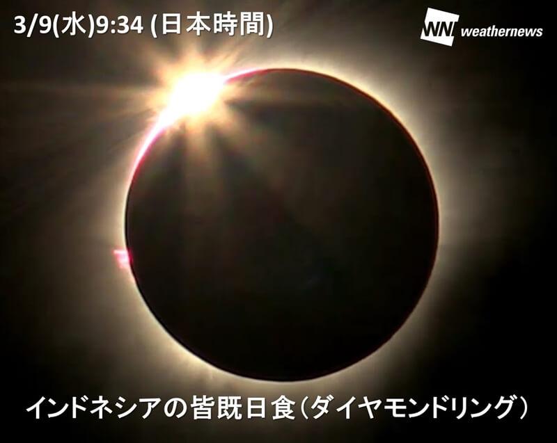 2016年皆既・部分日食 - 星空情報 au天気